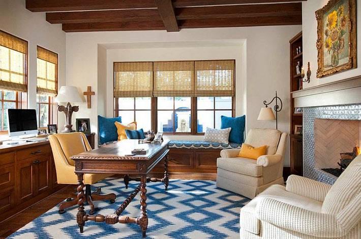 уютный дизайн интерьера домашнего офиса фото