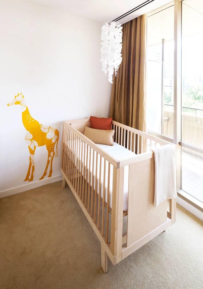 работа дизайнера в интерьере детской комнаты для младенца