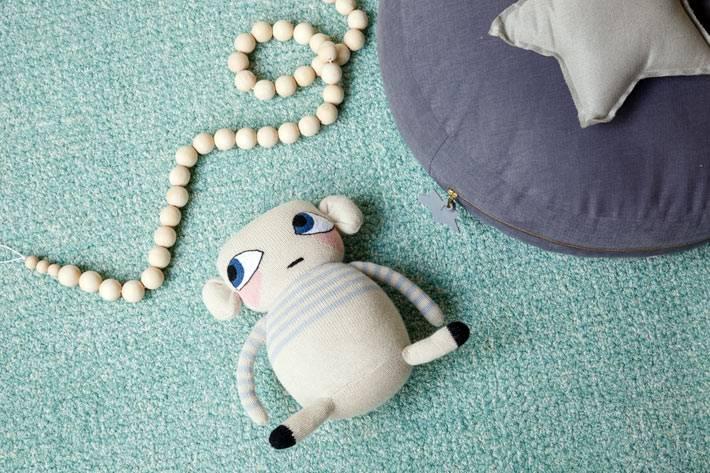 бирюзовый цвет в дизайне интерьера комнаты для младенцев