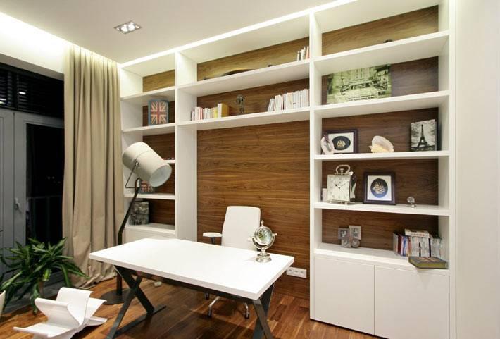 деревянные панели в оформлении домашнего офиса фото