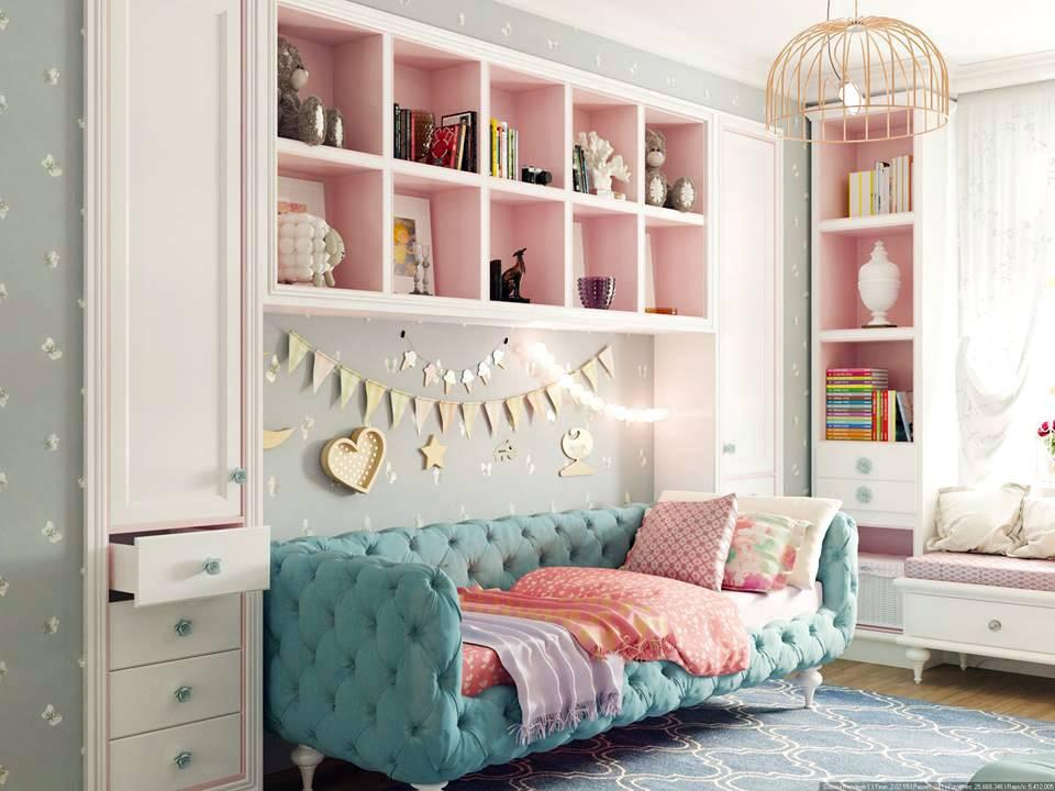 красивый интерьер детской комнаты с экслюзивной детской мбелью
