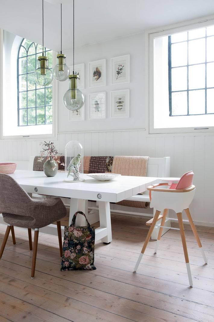 интерьеры столовых в скандинавском стиле