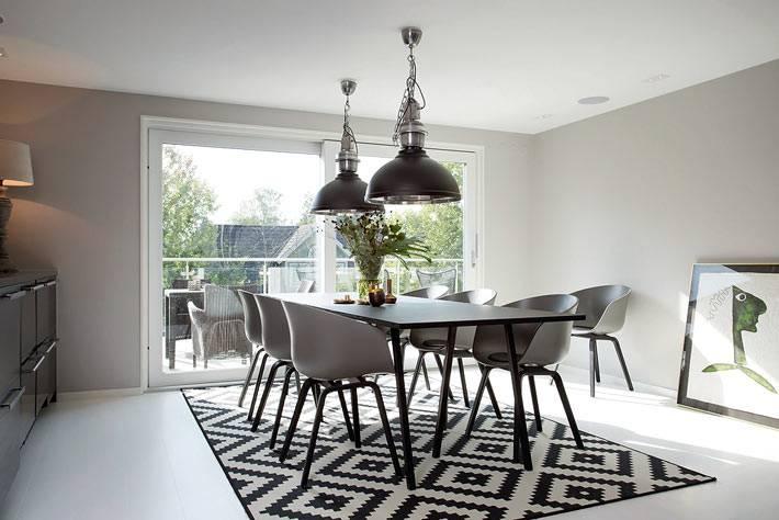 столовая комната - интерьер в скандинавском стиле
