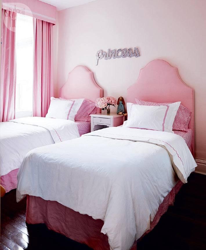 розовый цвет в интерьере детской комнаты для девочки