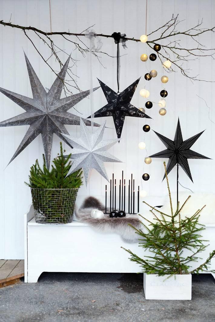 контрастные цвета новогодних украшений