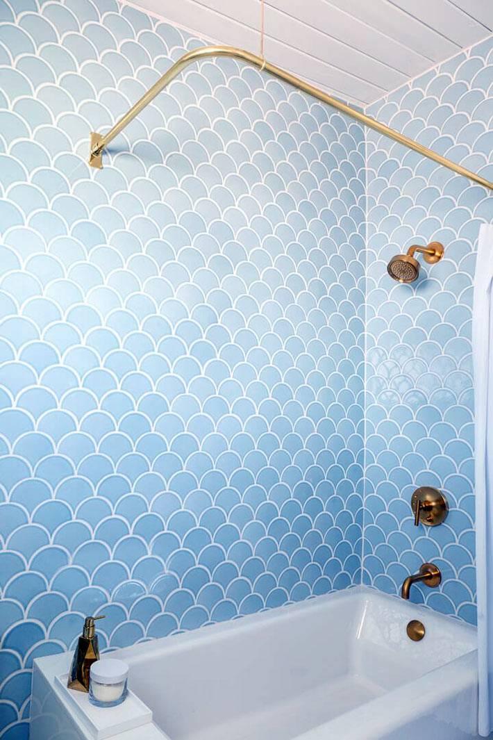 керамическая плитка рыбья чешуя для ванной комнаты