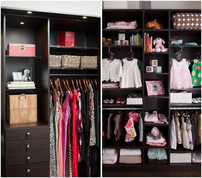 хранение одежды в детской комнате фото
