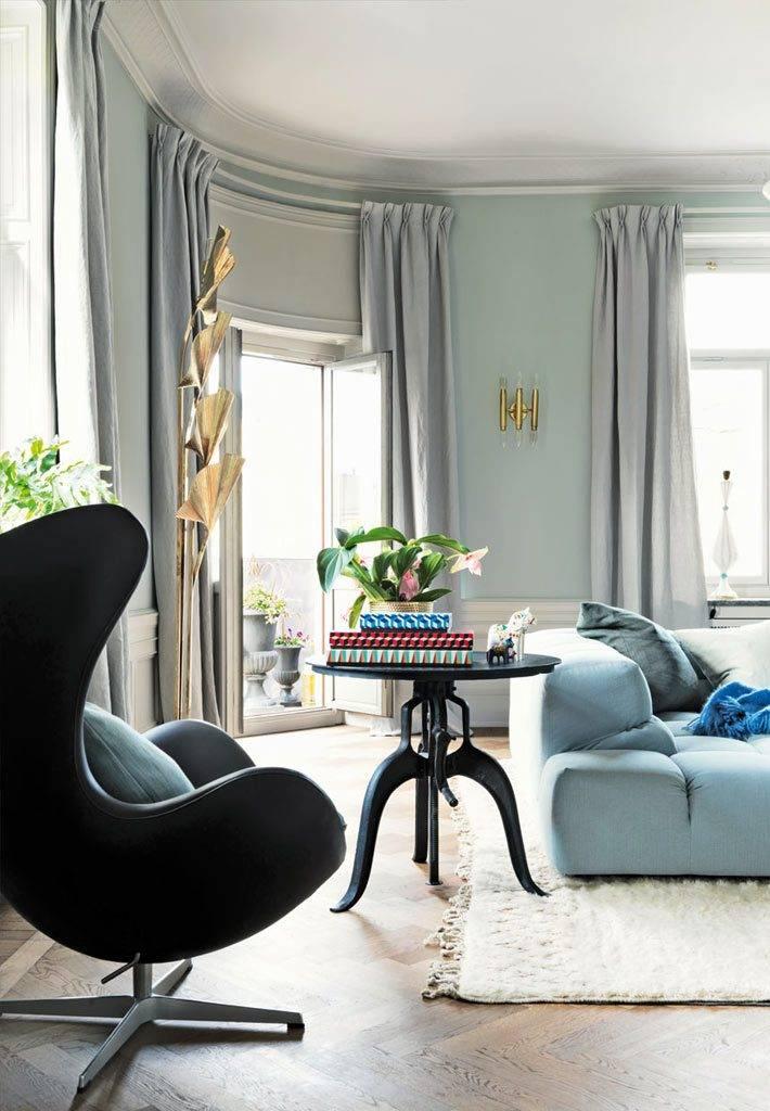 пастельные тона в интерьере квартиры в швеции