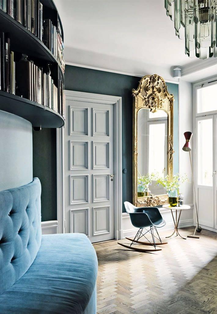 красивые элементы декора и мебели в интерьере квартиры