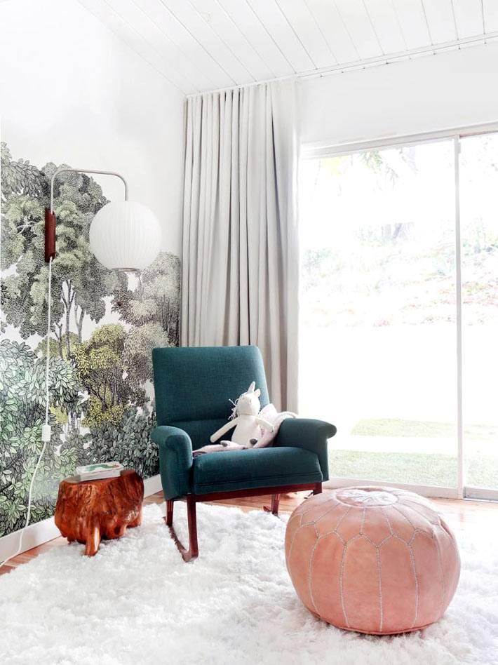 ретро мебель и винтажный дизайн детской комнаты