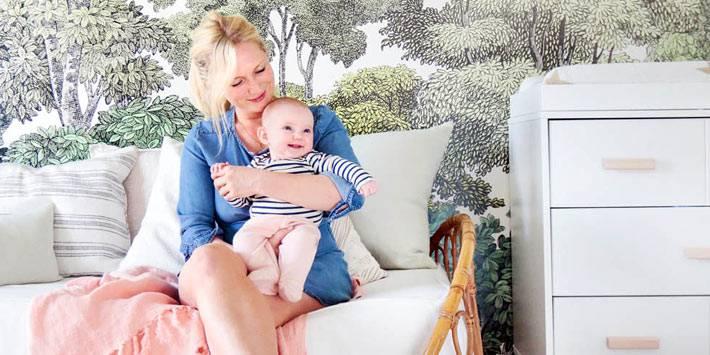 детская комната для дочки Emily Henderson фото