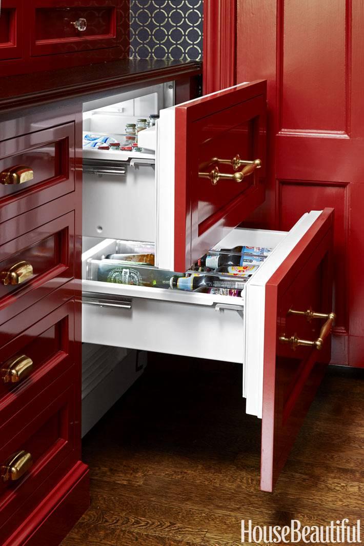 хранение в ящиках на кухне фото