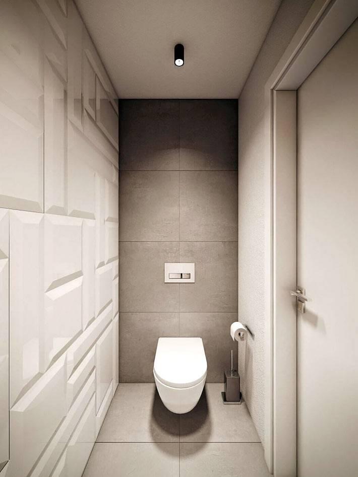 минимализм в дизайне туалета