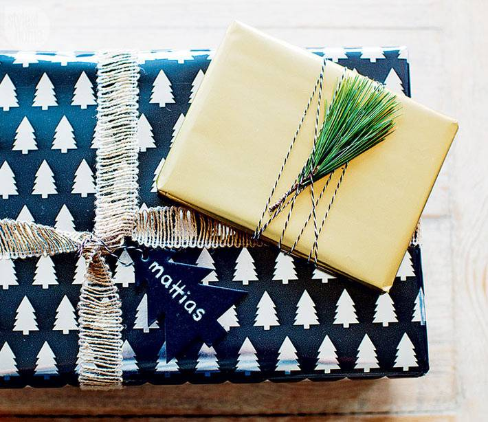 красивая упаковка новогодних подарков фото