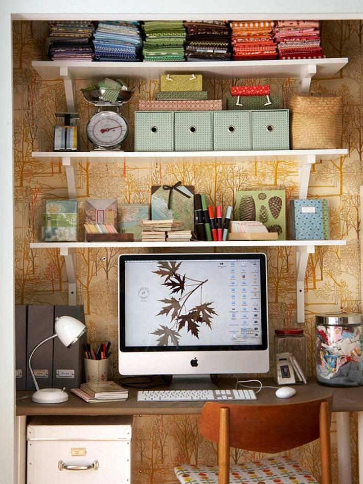 рабочее место в шкафу для рукодельницы фото