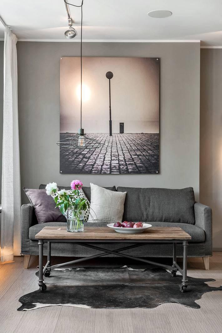 Преобладающий серый цвет в дизайне квартиры фото