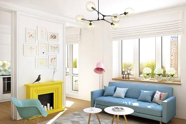 однокомнатная квартира с блыми стенами для девушки