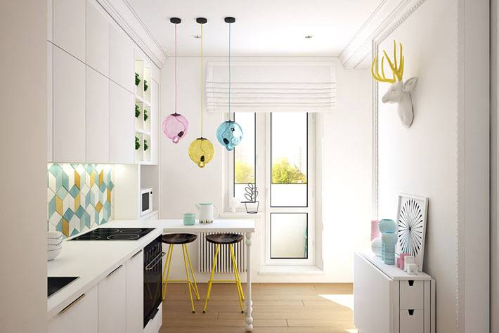 Дизайн маленькой кухни в однокомнатной квартире фото