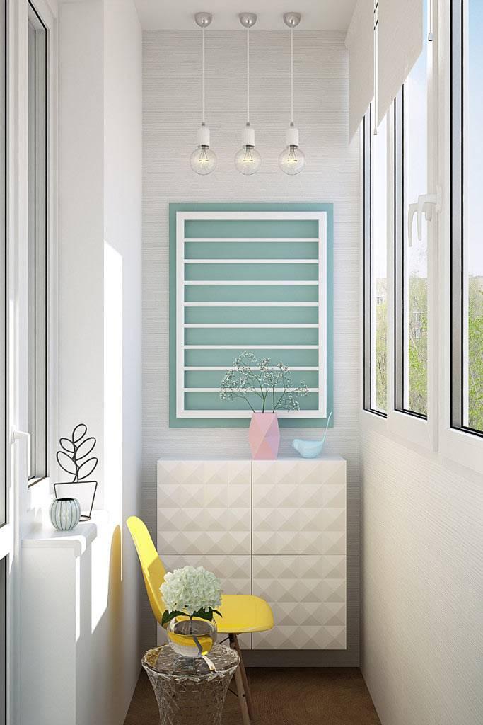 Дизайн балкона в светлых тонах фото