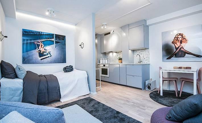 Дизайн маленькой квартиры-студии фото