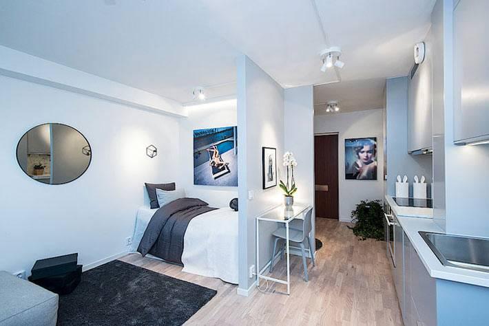 Маленькая однокомнатная квартира в Швеции фото
