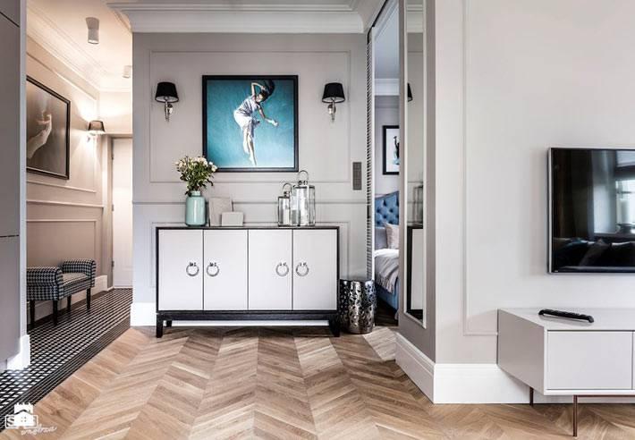Дизайн интерьера квартиры в светлых тонах от SAS фото