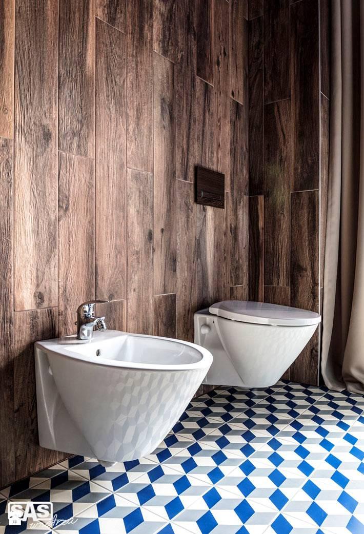 Ламинат на стене в интерьере ванной комнаты фото