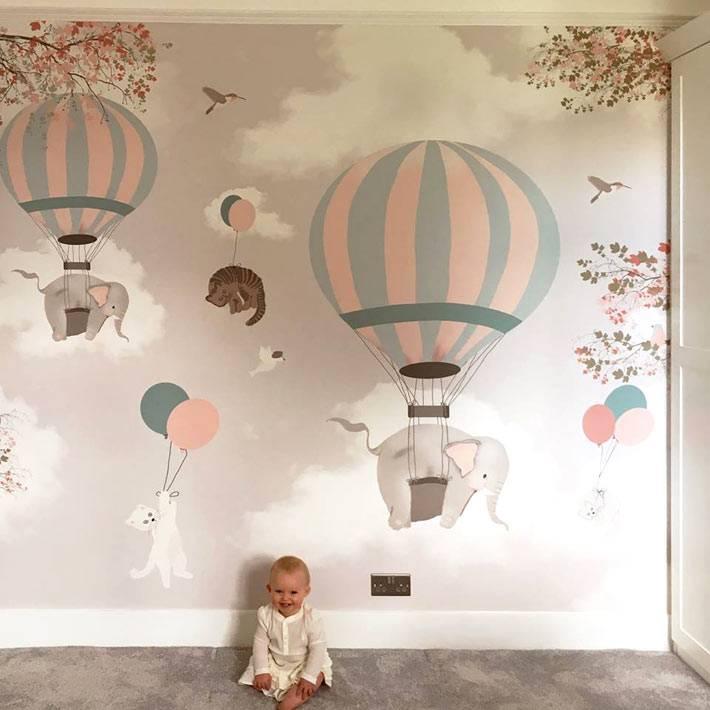 воздушные шары рисунки для детских комнат фото