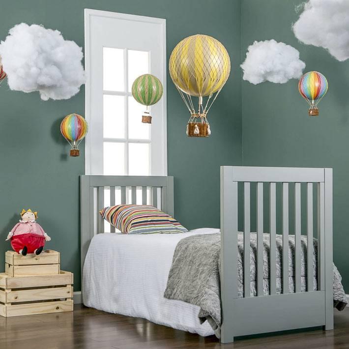 модель детской комнаты с необычным декором
