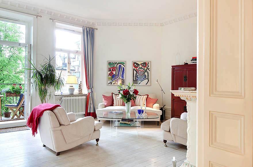 красивая квартира в скандинавском стиле в светлых тонах фото