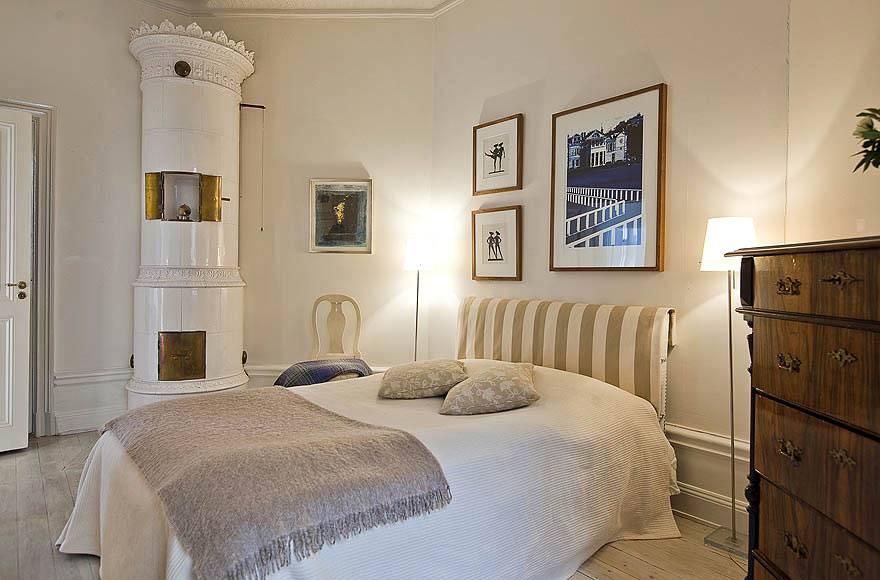 Дизайн спальни в скандинавском стиле и бежевом цвете фото