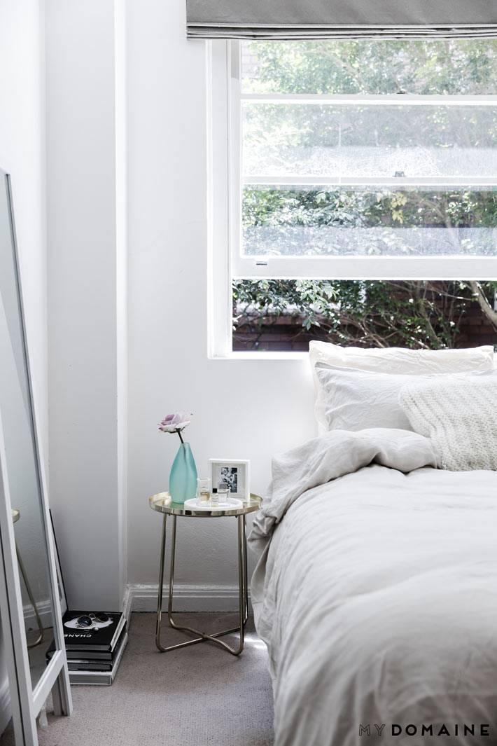 дизайн-минимализм для спальной комнаты фото