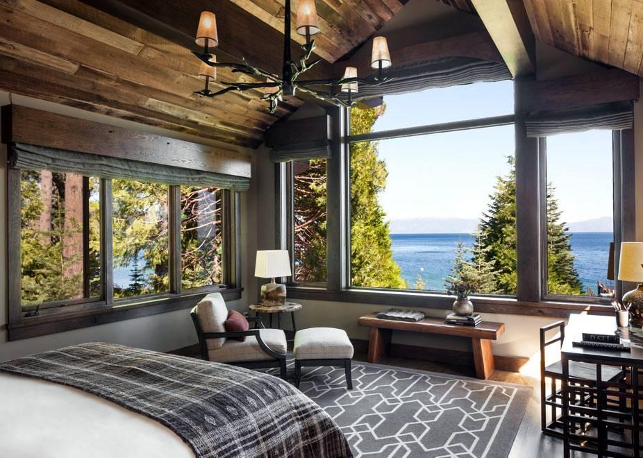 Панорамный вид на озеро из спальни фото