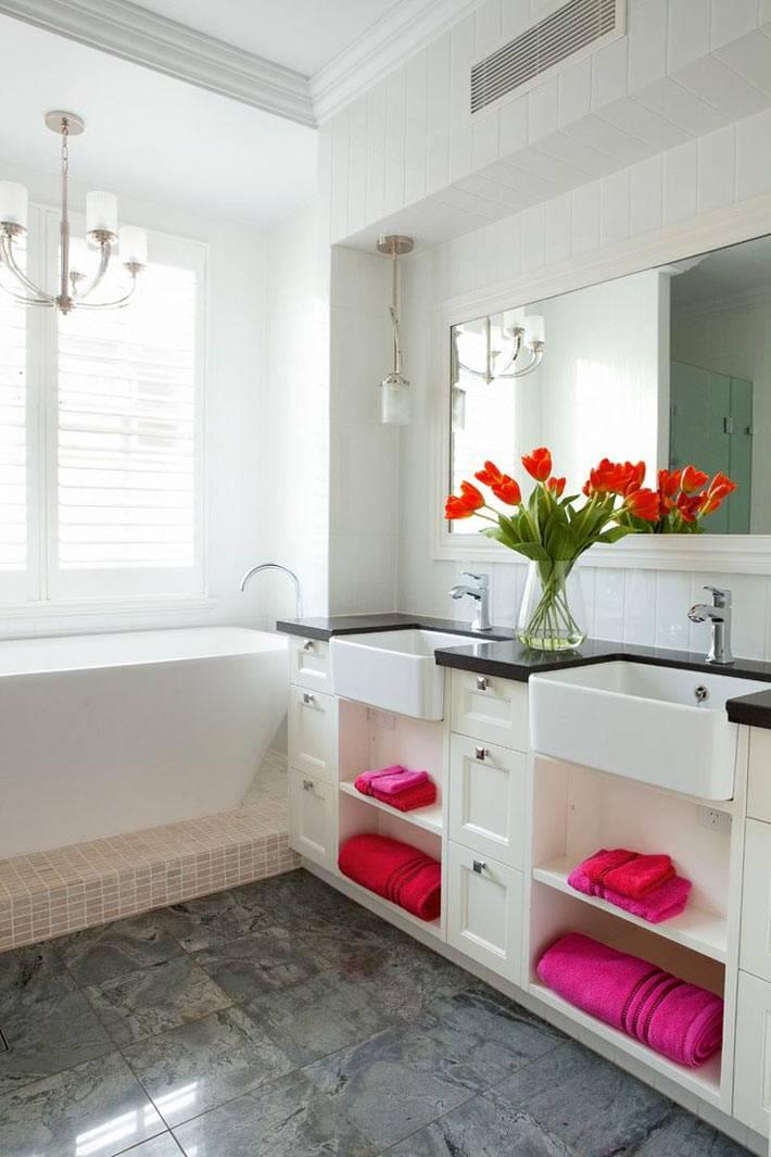 Два умывальных места в одной ванной комнате фото