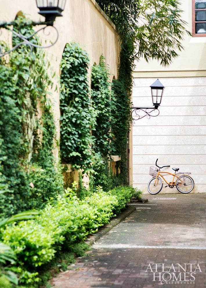 озеленение внутреннего двора для дома