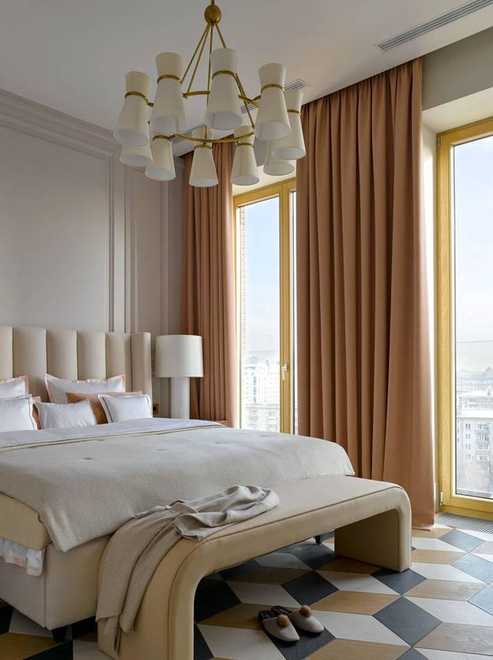 бежевые цвета и оттенки в оформлении спальни фото