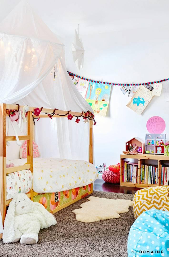детская кровать с красивым балдахином фото