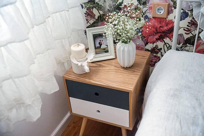 современная креативная прикроватная тумба из дерева для спальни