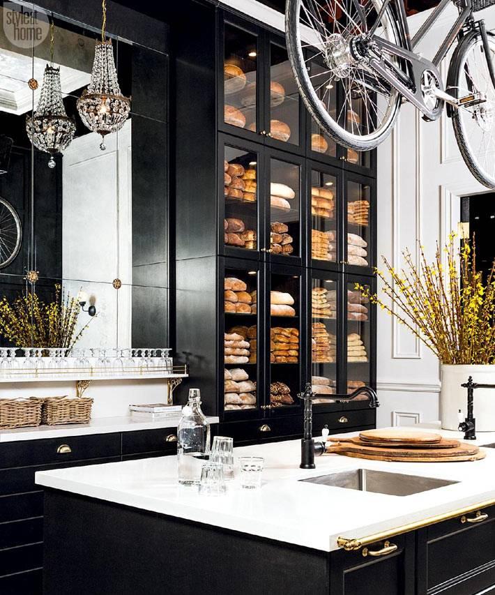 черная кухня классика и современность фото