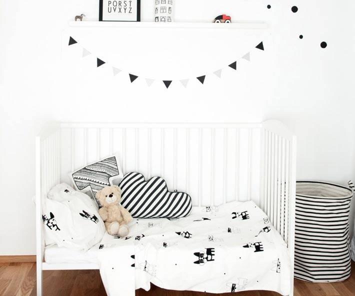 детская комната в черно белом цвете фото