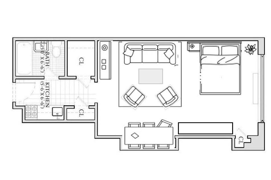 схема размещения мебели в квартире фото