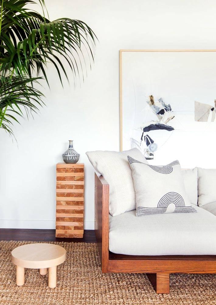 деревянная мебель в японском стиле в интерьере квартиры