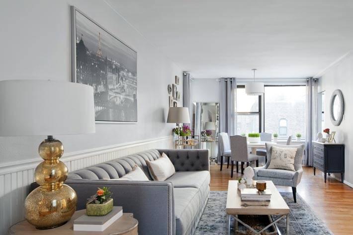как использовать серый цвет в дизайне гостиной фото