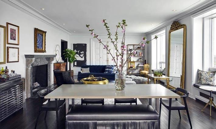 серый цвет в дизайне интерьера гостиной комнаты