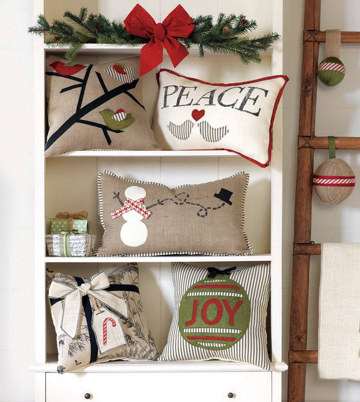 новогодние подушки для новогоднего настроения