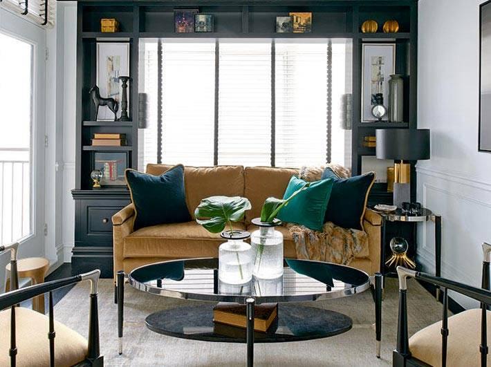 черная мебель в дизайне комнаты фото