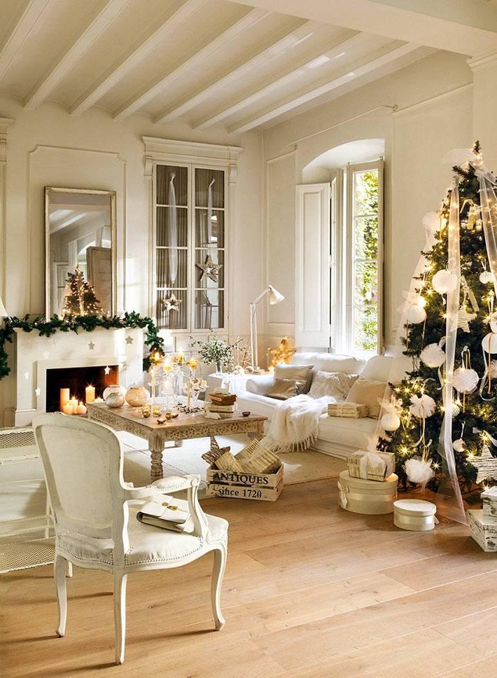 белоснежное убранство дома к Новогодним праздникам