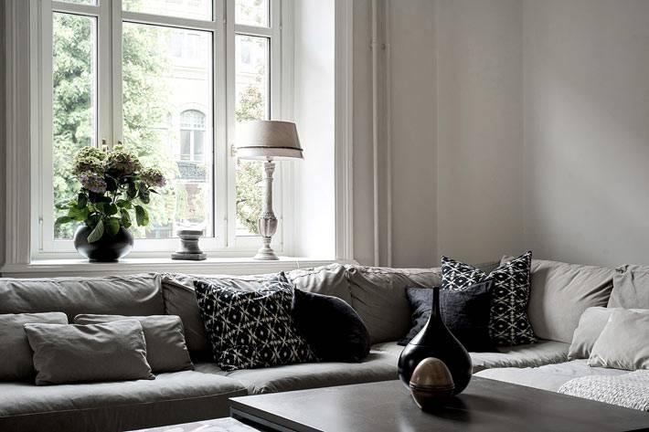 скандинавский интерьер квартиры без штор
