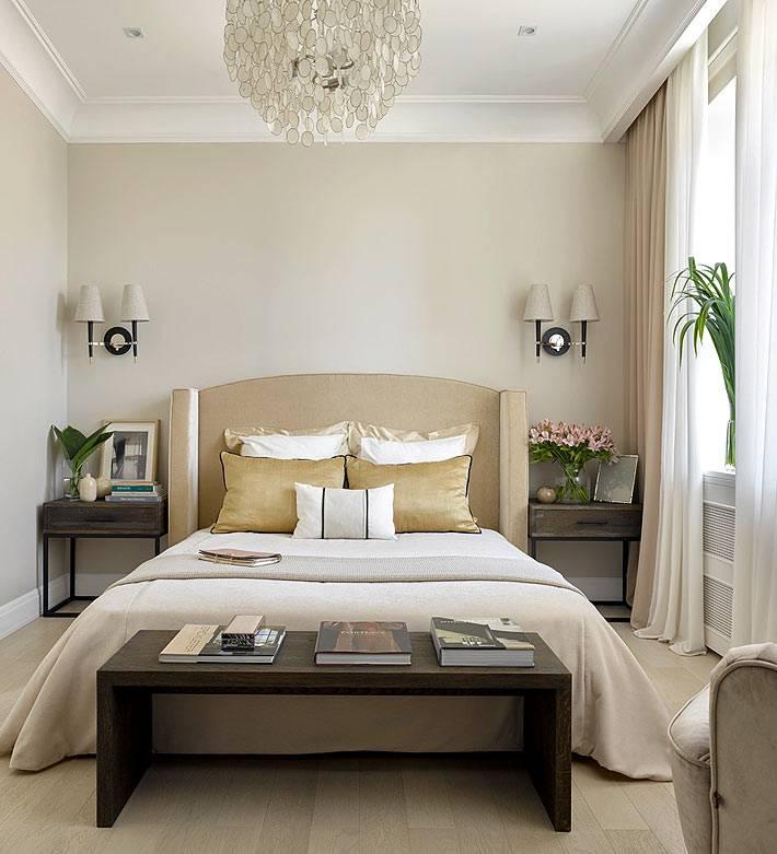 светлые и бежевые цвета в дизайне интерьера спальни фото
