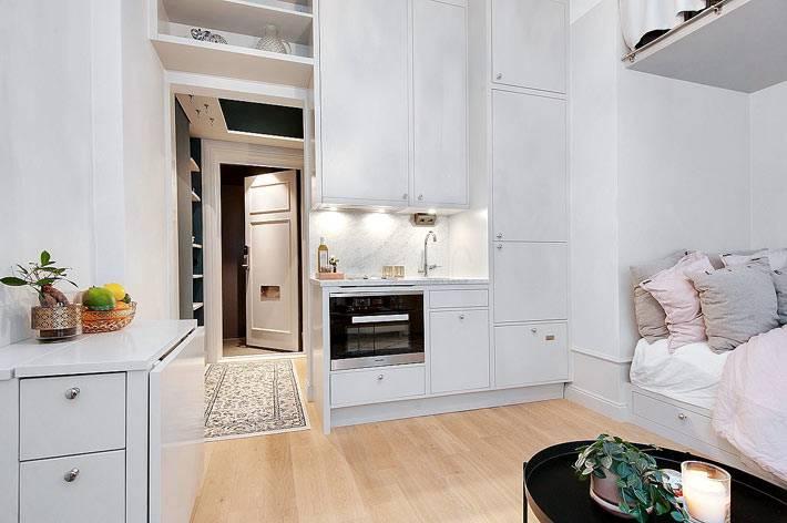 малометражная однокомнатная квартира с удобными зонами